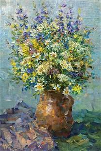 Oil painting Daisies Kalashnik Nikolai Fedorovich