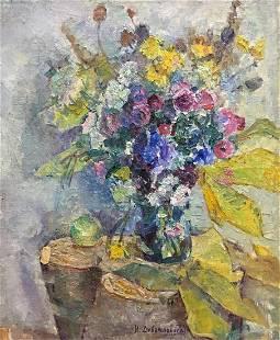 Oil painting Flowers Dovgalevskaya Vera Veniaminovna