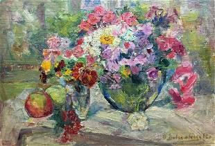 Oil painting Lilac Dovgalevskaya Vera Veniaminovna