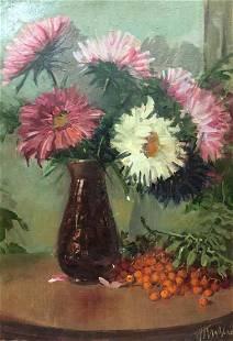 Oil painting Flowers Kysenko Nestor Mitrofanovich