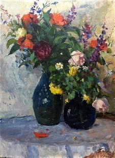 Oil painting Still life Leonid Alexandrovich Tishkov