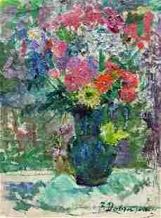 Oil painting Spring flowers Dovgalevskaya Vera