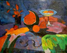 Oil painting At the night window Likhovid Georgy