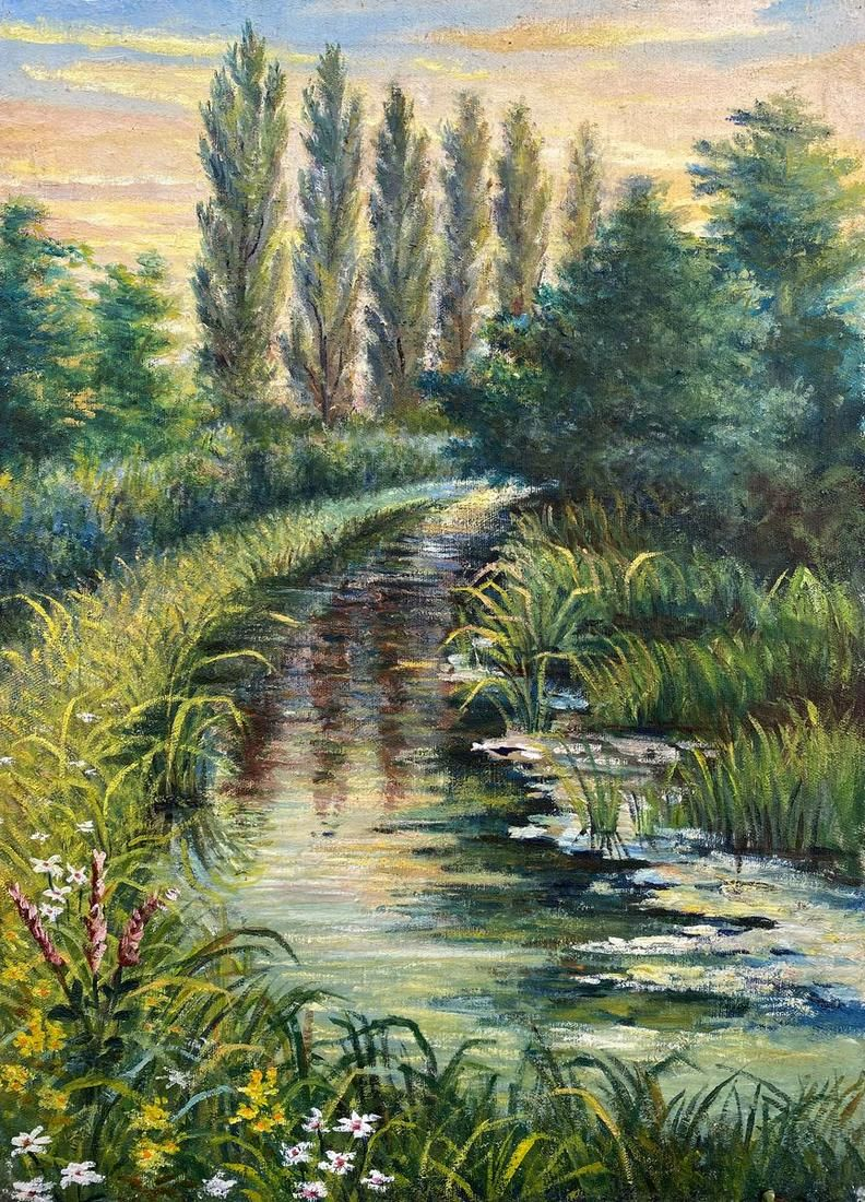 Oil painting Natural landscape Unknown artist