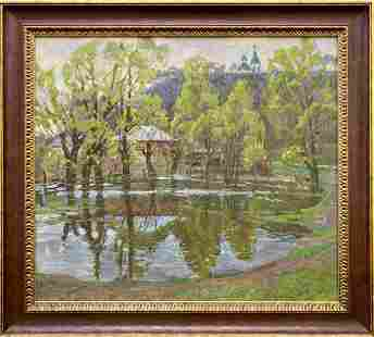 Oil painting After the rain Unknown artist