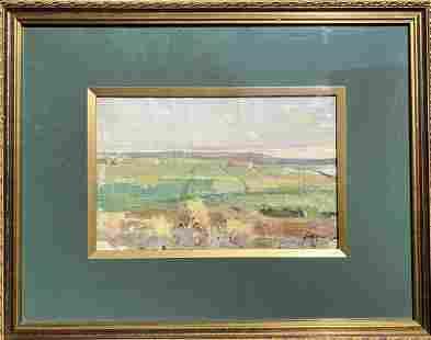 Oil painting Field landscape M.V. Naumenko