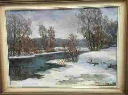 Oil painting Early spring Pivtorak Sergey