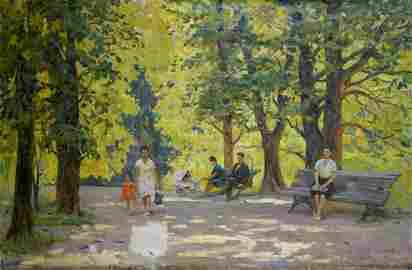 Oil painting A park Bednoshey Daniil Panteleyevich