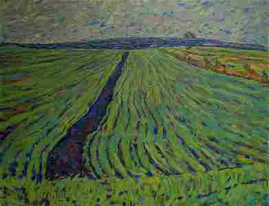Oil painting Fields Chvala Dmitry Andreevich