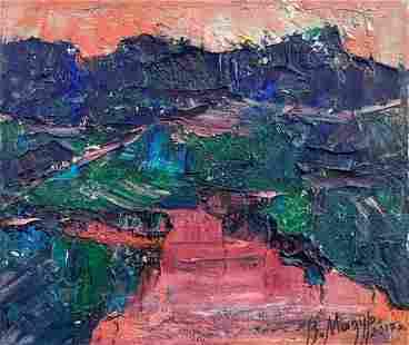 Abstract oil painting Evening sunset Mazur Vladimir