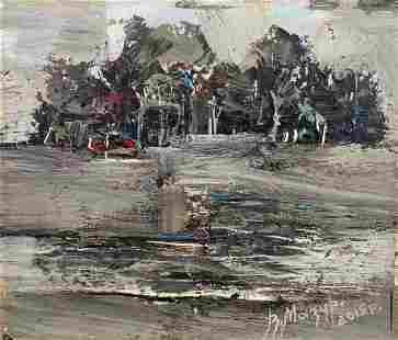 Abstract oil painting Quiet day in nature Mazur