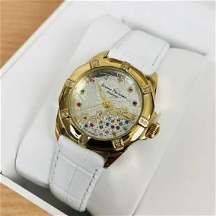 Serene Marceau Diamond Gold Plated 16 Diamond Watch