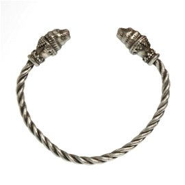 Greek Silver Bracelet with Lions Heads
