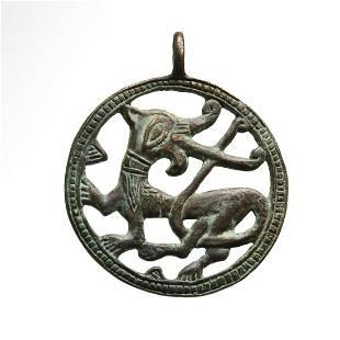 Viking Bronze Open Work Pendant with Norse Mythological