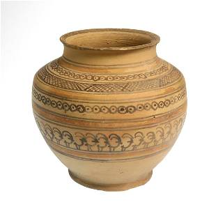 Persian Teppe Sialk Terracotta Jar with Mountain Goats