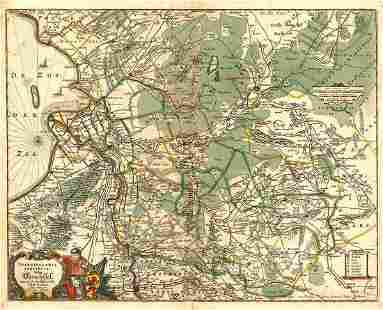 Transisalania Provincia; Vulgo Over-Yssel. Auctor. N.