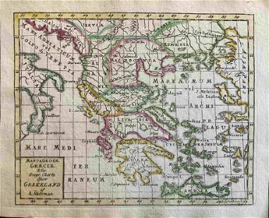 Greece, RARE Swedish issue by A. Akerman 1768-1774