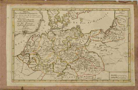 1758 Akerman Map of Germanic States -- Area Belli