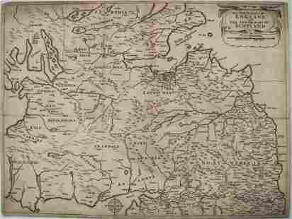 1644 but 1752 Jenner and Hollar Map of the English /