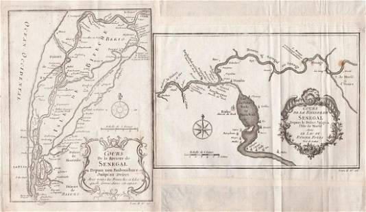 Bellin/Prevost: West Africa—Course of the Senegal River