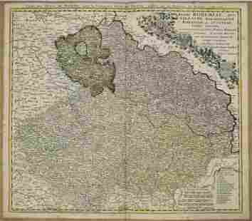 1747 Homann Map of Czech Rep., Silesia and Parts of