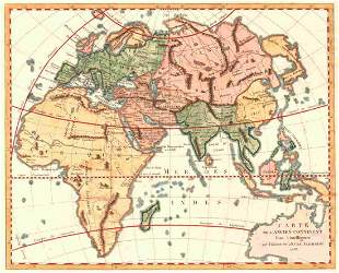 Carte De L'ancien Continent Pour L'intelligence Du
