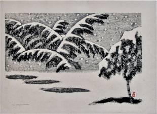 Masaharu Aoyama: Bamboo in Snow