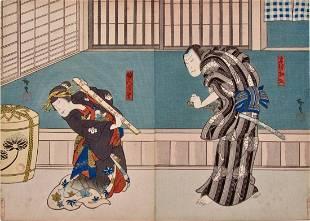 Hirosada: Interior scene