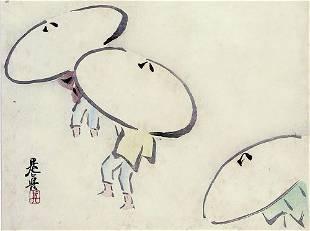 Shibata ZESHIN (1907-91): Umbrellas