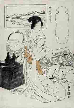 TOYOKUNI II, Utagawa (1777-1835): Evening snow in