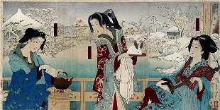 Tsukioka YOSHITOSHI (1839-92): The courtesan 'Lady