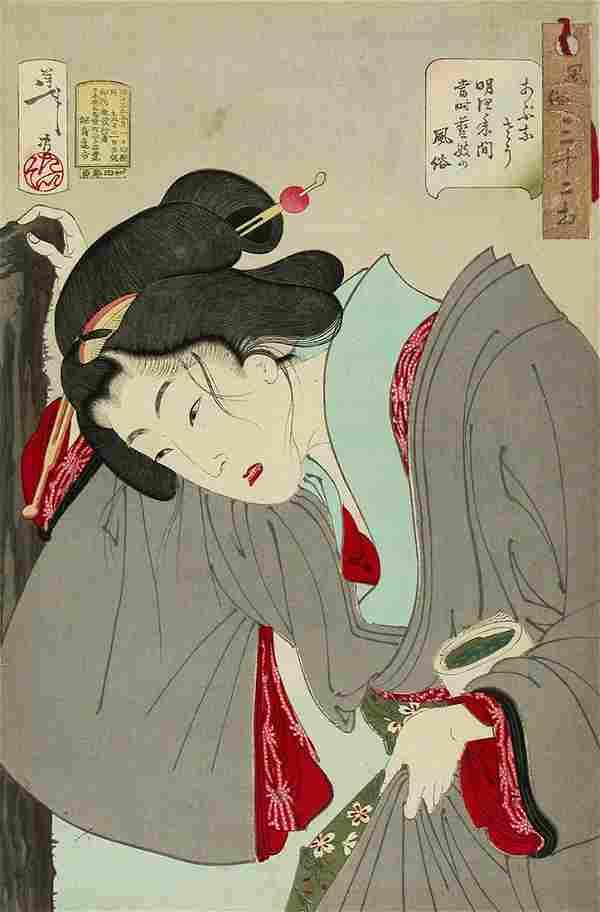 Tsukioka YOSHITOSHI (1839-92): Looking like a dangerous