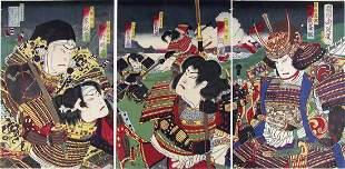 Toyohara CHIKANOBU (1838-1912): Scene from the play: