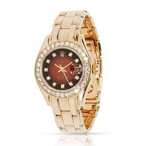 Rolex Pearlmaster 69298 Women's Watch in 18kt Yellow