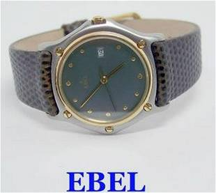 Unisex S/Steel & 18k EBEL Quartz Watch Ref. 183909*