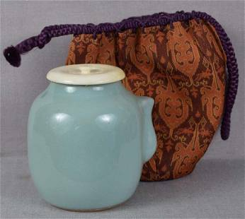 19c Japanese porcelain celadon tea ceremony CHAIRE