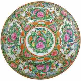 Chinese Rose Medallion Bowl Circa 1920