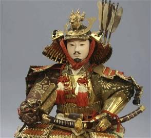 Taro Yawata Yoshiie Samurai warrior doll Silkwood