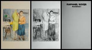 Raphael Soyer - Seamstress 1 Portfolio Suite of 2
