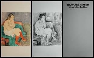 Raphael Soyer - Woman Red Stockings Portfolio Suite of