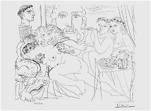 Minotaur Caressing Girl (Vollard Suite)