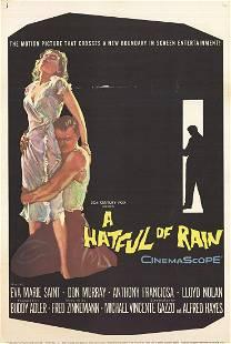 "A Hatful of Rain - 1957 Offset Lithograph 41"" x 27"""