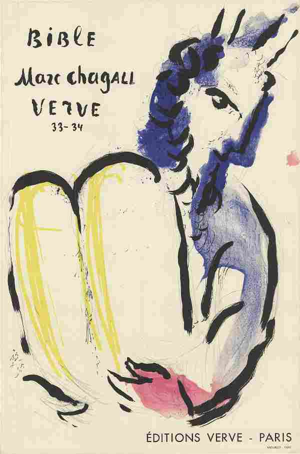 """Marc Chagall - Bible Verve, 1956 - 1956 Lithograph 25"""""""