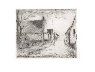 Maurice Vlaminck - Boissy-les-Perches - 1951 Etching