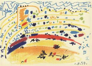 """Pablo Picasso - Bullring II - 1959 Lithograph 11.5"""" x"""