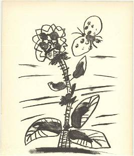 Pablo Picasso - De Memoire D'Homme IX - 1950 Lithograph