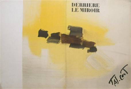 """Derriere Le Miroir, no. 114 - 1959 Book 15"""" x 11"""""""