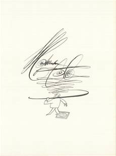 """Saul Steinberg - DLM 53-54 Page 3 - 1953 Lithograph 15"""""""