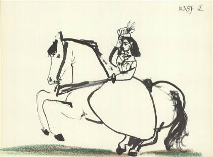 Pablo Picasso - Equestrian on Horse - 1959 Lithograph