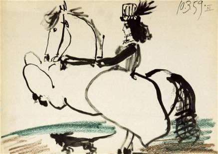 Pablo Picasso - Equestrian, 1959 - 1959 Lithograph
